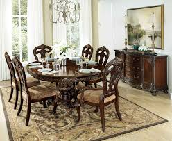 pedestal dining room sets homelegance deryn park round pedestal dining set cherry 2243 76