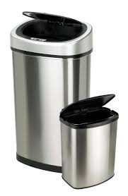Large Kitchen Trash Can With Lid by Nine Stars Infrared Motion Sensor Lid Open Trash Cans Combo