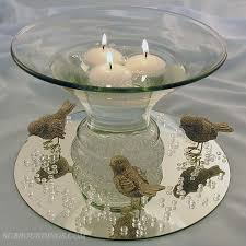 flared bubble bowl for floating candle centerpieces