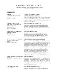 Phlebotomist Job Description Resume by Daniel Lohre Resume Medical Assisting Az