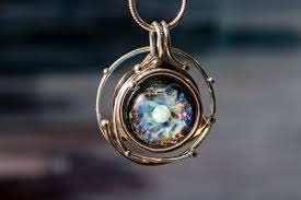 cremation jewlery cremation jewelry caged glass galaxy necklace by charles 375 00