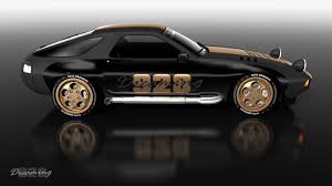 widebody porsche 928 928 dreaming 928 gold retro