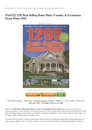 Best Selling Home Plans by Review 1295 Best Selling Home Plans Country Farmhouse Home Plans Pdf U2026