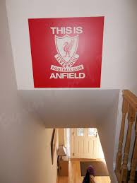 liverpool lfc you ll never walk alone wall decal sticker liverpool this is anfield wall art decal