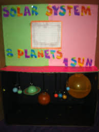Fourth Grade Halloween Crafts Solar System 4th Grade Science Project Used A Paper Box Bought