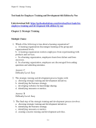 download test bank for employee training and development 6th