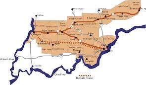 indiana map us maps indiana s historic pathways