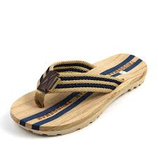 amazon com classic mens frayed flip flops light weight shock