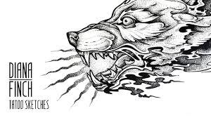 tattoo sketch draw dotwork tattoo sketch wolf head youtube