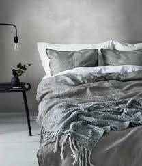cotton chambray duvet set light gray h u0026m home h u0026m us