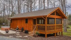 Derksen Portable Finished Cabins At Enterprise Center Youtube 480 Sq Ft Tiny Cabin In The North Georgia Mountains Amazing