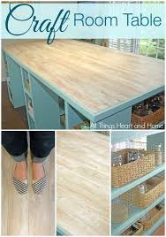 Diy Craft Room Ideas - diy craft room table guess what the top is made of hometalk