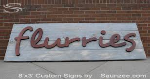 saunzee custom 3d barn wood sign outdoors store sign mall store