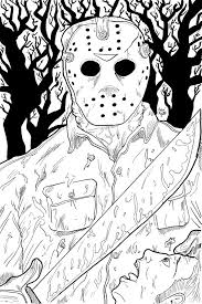 horror coloring pages coloring