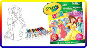 part 1 crayola color wonder disney princess glitter paper and