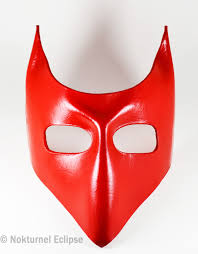 red devil lock mask with little horns tim burton nightmare