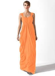 empire linie herzausschnitt bodenlang chiffon brautjungfernkleid mit scharpe band p526 orange kleider für die brautmutter kleider für die brautmutter