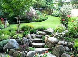 Rock Gardens On Slopes Sloped Rock Garden Ideas Building A Rockery Garden Garden Slope