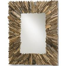 mirror rustic style home accessories ideas with unique driftwood