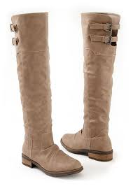 womens knee high boots buckle knee high boot in taupe venus