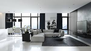 black and white living room designs with trendy and perfect decor