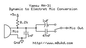 yaesu mh 31 electret condenser mic modification u2013 m0ukd u2013 amateur