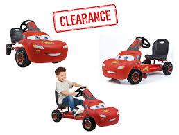 lighting mcqueen pedal car walmart clearance disney lightning mcqueen pedal go kart 59 00