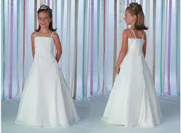 childrens wedding dresses chiffon spaghetti straps flower dresses