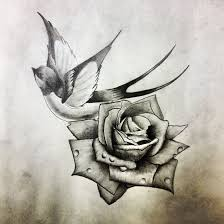 another swallow and rose by dazzbishop tattoo ideas