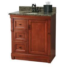 standard bathroom vanity depth foremost naples 31 in w x 22 in d bath vanity with left drawers