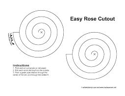 super easy valentine u0027s paper rose cutout