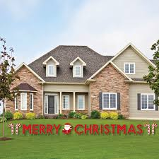 merry yard sign outdoor lawn decorations