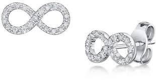 rox diamond earrings rox diamonds and thrills diamond infinity earrings in metallic