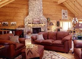 Log Cabin Area Rugs Aesthetic Leather Furniture For Log Cabins With Square Ottoman