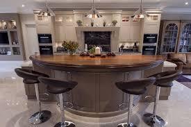 walnut breakfast bar table design matters bespoke handpainted kitchen utility and boot room