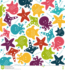 vector children colorful pattern of sea animals stock vector