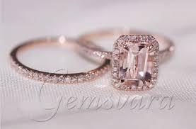 what is morganite 2 rings solid 14k gold morganite wedding rings wedding bands