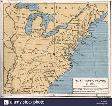 Maps Of United States Of America by Map Of Post Independence United States 1783 Shows The Thirteen