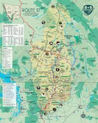 map of bc route 97 highlights map road trip maps geographic overview