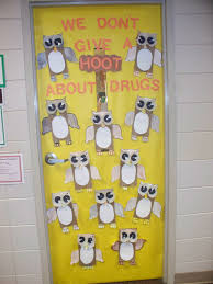 Owl Home Decor Teaching Instyle Drug Free Door Decorating
