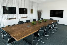 Grey Meeting Table Extraordinary Black Conference Table Rectangle Shape Brown Wood