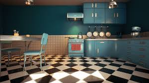 customizable retro kitchen by nguyen cong thai in environments