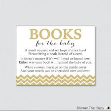 printable gold glitter baby shower bring a book instead of a
