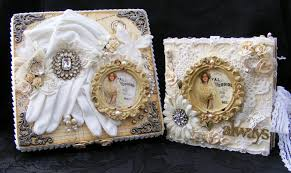 vintage wedding album as a scrapper vintage style wedding album and keepsake box