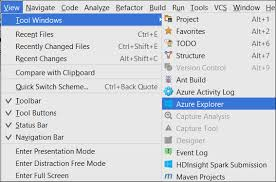 azure toolkit for intellij create spark applications for an