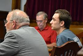 Jeremy Neeley (right) and his attorney, W. Edward Hatcher, listen during Thursday\u0026#39;s competency hearing in Van Wert County Common Pleas Court. - CP-Court-6-9-11-Neeley