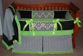 Black And Green Bedding Minton Black U0026 Lime Crib Bedding 837 279 00 Modpeapod We