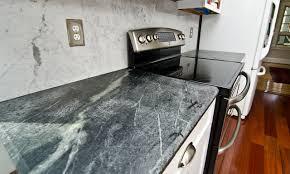Soapstone Counters With White Carrara Marble Full Backsplash - Soapstone backsplash
