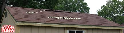 mega storage sheds options roof vents