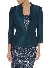 jacques vert petite ribbon button jacket in blue lyst